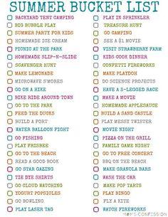 100 Fun Ideas For Your Summer Bucket List