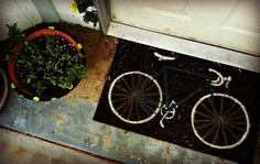 Blissful and Domestic is absolutely smitten with our Bike Doormat!