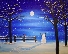 snowman starry night - Google Search