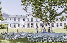 wedding Vienna, Austria, Hetzendorf castle, garden wedding,  photo: weddingreport.at Wedding Ceremony, Mansions, House Styles, Decor, Decoration, Manor Houses, Villas, Mansion, Decorating