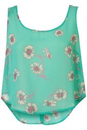 button back pansy crop blouse
