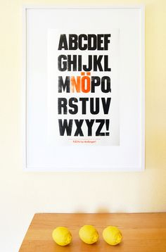 Buchstaben Poster *NÖ* // letter poster by monas DickyBird via DaWanda.com
