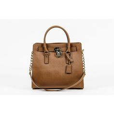 Brown ONE SIZE Michael Kors Ladies Hamilton Large Leather Tote Handbag