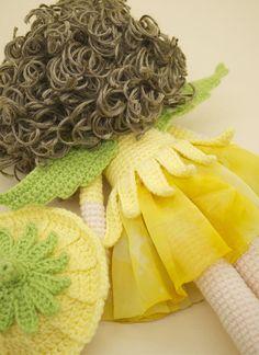 Amigurumis ganchillo muñeca  dulce hada de la flor de
