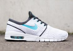 Nike SB Stefan Janoski Max - White - Clearwater - Anthracite - SneakerNews.com