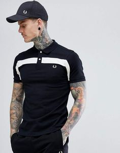 Buy Fred Perry textured panel polo in black at ASOS. With free delivery and return options (Ts&Cs apply), online shopping has never been so easy. Get the latest trends with ASOS now. Polo Shirt Style, Polo Shirt Outfits, Black Polo Shirt, T Shirt, Custom Polo Shirts, Slim Fit Polo Shirts, Printed Polo Shirts, Polo Outfits For Women, Embroidered Polo Shirts