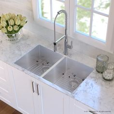 """Handmade 16 Gauge Stainless Steel 32.75"""" L x 19"""" W Undermount Kitchen Sink and Faucet"""