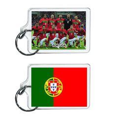 Portugal Soccer Flag 2014 Team Player Acrylic Keychain 2 x 1 | www.balligifts.com