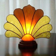 Art Deco Stained Glass Fan Lamp by windflower on Etsy, $47.00