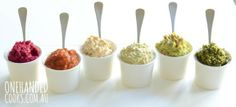 Healthy Dips for Kids by One Handed Cooks