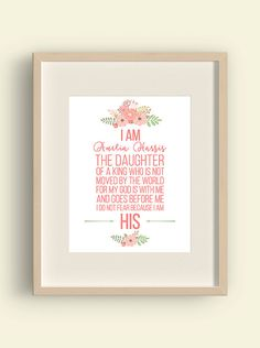 I am his  I am the daughter of a King  Coral by YourLittlePoster