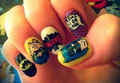 #nailart #nails #superhero #popart