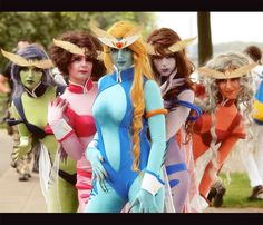 Doom and Gloom Girls (Sailor Moon), cosplayed by cammy_cat, blackfantastix, Anni-bunny1, red_maiden, & isadorada, photographed by photoplasma    This is the first time I've seen anyone cosplay these characters.#SailorMoon