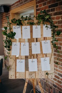 Wonderful Free A magic forest inspired wedding in Wiltshire: Anna . - Wonderful Free A Magic Forest inspired wedding in Wiltshire: Anna & Andy Thoughts An easy way to ch - Wedding Table Assignments, Seating Plan Wedding, Seating Plans, Reception Seating, Wedding Table Numbers, Reception Ideas, Perfect Wedding, Dream Wedding, Wedding Day