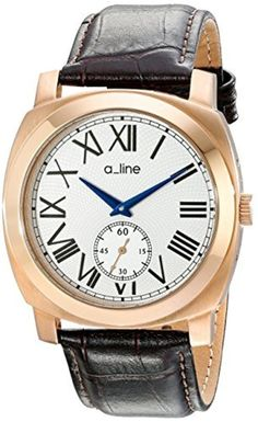 a_line Women's AL-80023-RG-02-BR Pyar Analog Display Japanese Quartz Brown Watch by a_line -- Awesome products selected by Anna Churchill