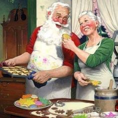 Mr and Mrs Claus... relationship goals 💖