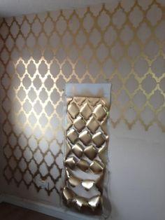 Gold geometric wall