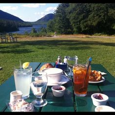 Tea and Popovers at Jordan Pond House, Acadia National Park, Maine