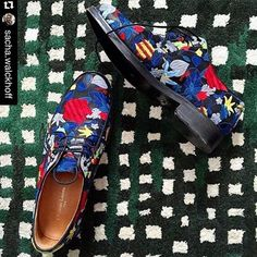 The choice of our creative director Sacha Walckhoff of wearing a #colorful #embroidered pair of Christian #Lacroix #derbies reflects his refined taste! The Spring-Summer #2016 #shoes collection is available at our store! #ChristianLacroix #Menswear #Fashion #Style #Stylish #Cool