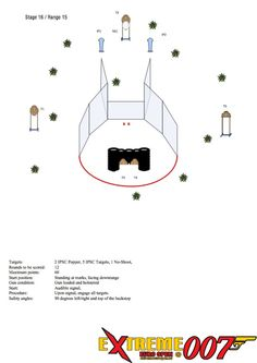 Stage 16 / Range 15: 2 IPSC Popper, 8 IPSC Targets, 3 No-Shoot, 2 IPSC Metal Plates
