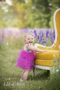 Plano Family Photographer, wildflowers, vintage chair, yellow chair Family Posing, Vintage Chairs, Photographing Kids, Siblings, Family Photographer, Wild Flowers, Baby Kids, Parents, Flower Girl Dresses