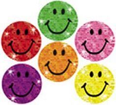 Sparkly Happy Face Stickers by TREND ENTERPRISES INC.