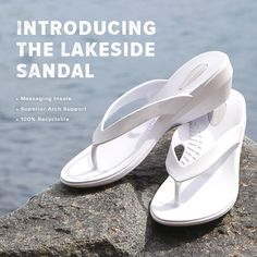 Sleek and elegant with a massaging insole and superior arch support, meet the brand new Okabashi Lakeside sandal!  #Okabashi #Shoes #Sandals #FlipFlops #Style #Comfort