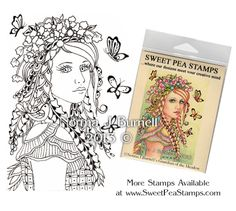 Guardian of the Meadow - Original Fairy Tangles™ designs by Norma J Burnell