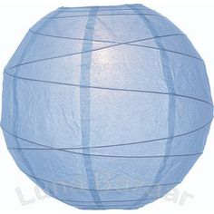 """Powder Blue 10 Inch Wholesale Paper Lanterns.  This """"Premium"""" blue paper lantern is made with the finest quality rice paper and features freestyle bamboo ribbing. This lantern also includes a versatile expander which clips directly onto a light bulb!"""