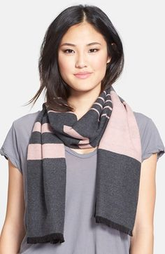 Chelsey Variegated Stripe Silk Muffler available at #Nordstrom