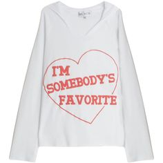 WILDFOX Somebody''s Favourite Hoodie ($155) ❤ liked on Polyvore featuring tops, hoodies, red hoodies, white hooded sweatshirt, wildfox hoodie, pattern hoodies and red hooded sweatshirt