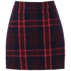 Oasis Marley Check Mini Skirt ($51) ❤ liked on Polyvore featuring skirts, mini skirts, reversible skirt, patterned pencil skirt, checked skirt and checkered pencil skirt