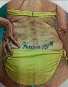 This is what your tatt will look like in 40 years: 14 old people with tattoos Birthday Wishes, Happy Birthday, Just For Laughs, Belle Photo, Laugh Out Loud, The Funny, Funny Happy, Make Me Smile, Laughter