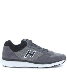 HOGAN Sneaker Hogan H254 Traditional 20.15 In Camoscio Grigio Catrame. #hogan #shoes #sneakers