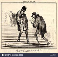Honoré Daumier (french, 1808 - 1879). Je Suis Reçu!! ... Refusé ...