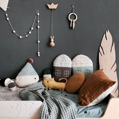 Decorating Ideas For Kids Rooms Nursery Layout, Nursery Room Decor, Kids Bedroom, Kids Room Design, Bed Design, Scandinavian Bedding, Parents Room, Bed Mattress, Cozy Bed