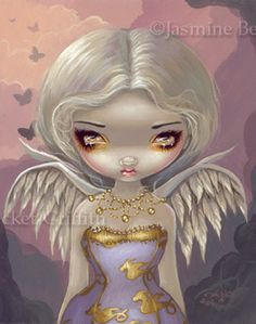 Big Eyed Fairy Art:  Angel in Lilac  by Jasmine Becket-Griffith