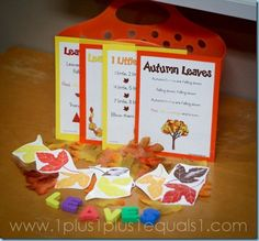 Fall Leaves songs and leaves printables