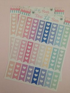 Heart Checklist Pastel Colors Stickers! Perfect for your Erin Condren Life Planner