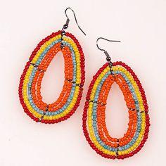 Maasai Earrings Kalahari now featured on Fab.