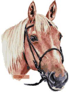 Palomino horse cross stitch kit   Yiotas XStitch