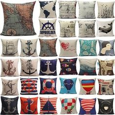 European Style Navigation Ocean Cushion Cover Throw Pillow Case Home Decor NEW