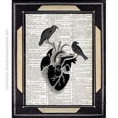 Hey, I found this really awesome Etsy listing at http://www.etsy.com/listing/93176002/black-heart-with-raven-art-print-on