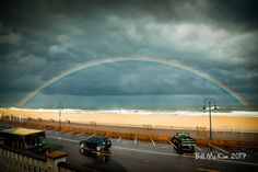 After the storm a rainbow and a whale sighting in Belmar. Click to view