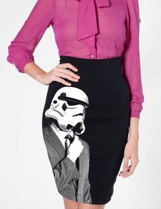 This Stormtrooper Pencil Skirt Adds a Sci-Fi Touch to Business Attire #starwars #gifts trendhunter.com