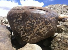 Neolithic rock art, India.