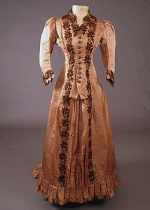 Phoebe Apperson Hearsts Bustle Dress,  c.1870's