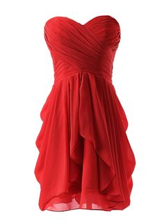 Just a nice dinner dress, looks very soft Chiffon fabrics. The starless looks very sexy. If you don't know what a friend's wedding dress, choose this dress. Will let you shine. Material: Chiffon Size: