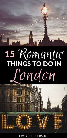 London is a magical city indeed. For couples, there are wonderful restaurants, charming streets, and more. This list of 15 romantic things to do in London will help you plan your next getaway.