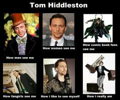 Tom Hiddleston in many perspectives :')